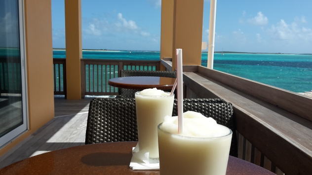 A frozen pina colada before tackling the journey back to the boat