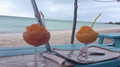 Papaya and mango daiquiris