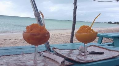Papaya and mango daiquiris