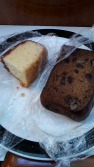 Guava pound cake and banana bread - both delicious.