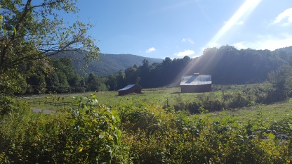 The perfect mountain valley in rural Virginia
