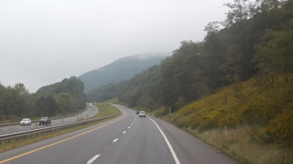 On our way back South through the misty Appalachian Mountains